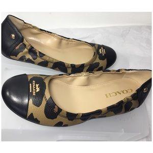 Coach Animal Print Casual Slips-on Flat Shoes Sz6
